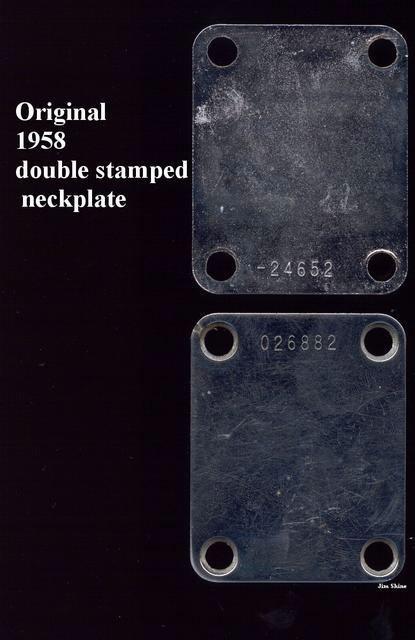 Pre-CBS Vintage style Aftermarket Neckplate 50/'Serial No fits Fender®